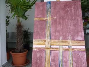Materialmix m. Pigmenten 40x70 cm