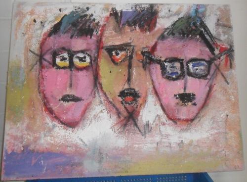 mixed media on canvas 50 x 70
