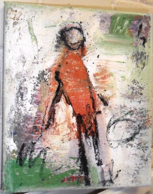 mixed media on canvas           25 x 30