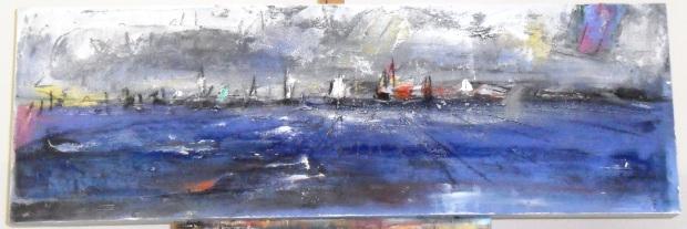 mixed media on canvas 40 x 120